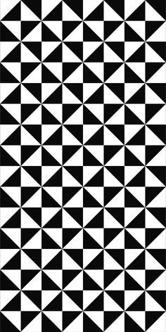 Seamless Monochrome Triangle Pattern Design
