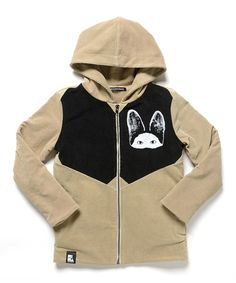 $24.99 Loving this Taupe Le Meow Tech Hoodie - Kids on #zulily! #zulilyfinds