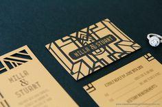 Wedding Invitations | Great Gatsby Themed Wedding Invitation | http://www.classicweddinginvitations.com.au/great-gatsby-laser-cut-invites-simple-dl/