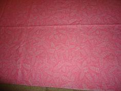 "Vintage Cotton Lt. Pink/White Floral Leaf Scrap Fabric/Material.  142"" X 42""…"