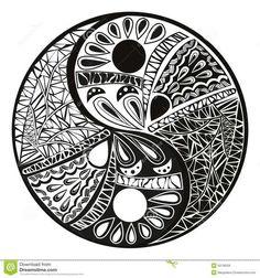 Illustration about Yin yang symbol, asian decoration element Pattern on white Background. Yin Yang tattoo for design Symbol illustration. Illustration of illustrations, decoration, harmony - 50136028 Ying Yang Symbol, Ying Y Yang, Yin Yang Art, Yin Yang Tattoos, Pisces Tattoos, Maori Tattoos, Dragon Tattoos, Polynesian Tattoos, Forearm Tattoos