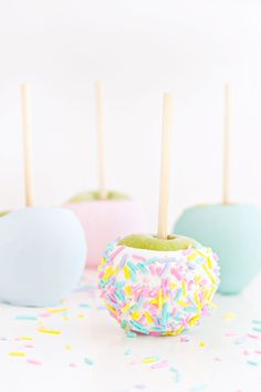 Chocolate Confetti Apples   Sprinkles for Breakfast