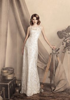 Papilio #wedding dress #vintage inspired http://www.finditforweddings.com