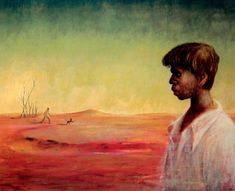 George Russell Drysdale (1912-81) Australia: Aboriginal Boy in a Landscape