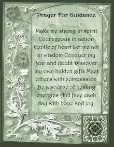 Book of Shadows: #BOS Prayer For Guidance page.