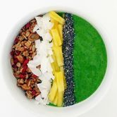 Healthy Breakfast Recipe: Green Smoothie Bowl, Homemade Granola:health-fitness:glamour.com