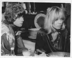 Mick Jagger and Anita Pallenberg in Performance directed by Donald Cammell and Nicolas Roeg, Rolling Stones Keith Richards, Anita Pallenberg, Jonny Lee Miller, It's All Happening, 60s Hair, Italian Actress, Mick Jagger, Retro Fashion, Cool Hairstyles