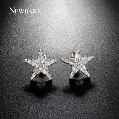 Find More Stud Earrings Information about NEWBARK Lucky Star Charm CZ Diamond Studs Earings Cute Korean White Gold Plated Earrings Small Jewelry Christmas Gifts,High Quality jewelry display and packaging,China jewelry thailand Suppliers, Cheap earrings swarovski from Newbark Official Store on Aliexpress.com