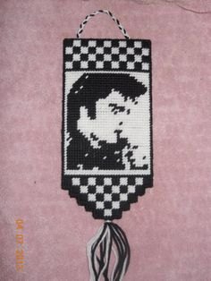 Elvis wall hanging plastic canvas by SpyderCrafts on Etsy Plastic Canvas Tissue Boxes, Plastic Canvas Crafts, Plastic Canvas Patterns, Rain Sticks, Jailhouse Rock, Plastic Mesh, Canvas Wall Art, Canvas Frame, Needlepoint
