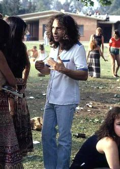 Ronny James Dio doing an interview outdoors, unknown date