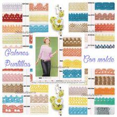 Delicadezas en crochet Gabriela: Galones en crochet