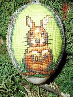 Kreuzstich Osterei Easter Egg