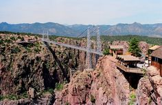 Don't look down, because for those who don't cope well with heights, these incredible photos show some of the most terrifying bridges in the world. Royal Gorge Bridge, USA