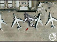 Burned Airplane At Heathrow Airport UK