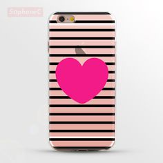 Pink Heart Lines Stripes