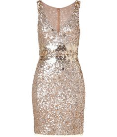soft gold sequin dress from jenny packham -- in love. new years dress? oh yes.