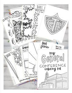 11 fun pages of coloring fun to keep your littles entertained during LDS General Conference! Print up to 10 copies of the packet per purchase. General Conference Activities For Kids, Activity Day Girls, Activity Days, Conference Invitation, Visiting Teaching Handouts, Color Activities, Church Activities, Conference Talks, Relief Society Activities