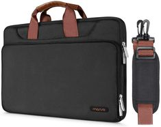 Amazing offer on MOSISO Protective Laptop Shoulder Bag Compatible Inch MacBook Air, MacBook Pro Retina, Surface Laptop 2 Surface Book, Polyester Briefcase Sleeve Back Trolley Belt, Black online - Prettyclothingstyle Macbook Pro Retina, Macbook Air, Surface Book, Surface Laptop, Sport Watches, Watches For Men, Waterproof Sports Watch, Laptop Shoulder Bag, Briefcase