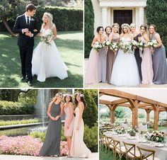 Leave it to Ashley to dress her girls in our FAVORITE trend, mix-matched bridesmaids.  It's no wonder we love her look so much- it reminds us of our Fall '15 B2 shoot.  Don't you agree?
