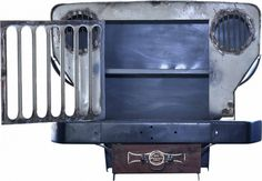 Old Vintage Jeep Repurposed Into Cabinet Upcycled Furniture