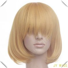 Long Bang New Arrival Light Yellow Blonde 35cm Women Short Straight Cosplay Wig Free Wig Cap-in Synthetic Wigs from Health & Beauty on Aliexpress.com | Alibaba Group