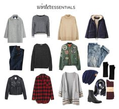 """Winter Wardrobe Essentials"" by delgadoshann ❤ liked on Polyvore featuring MANGO, Topshop, NLST, Chicnova Fashion, Acne Studios, DL1961 Premium Denim, J.Crew, Madewell, Banana Republic and Frye"