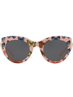 2f43b8f8d9b Shop Versace Eyewear Tribute butterfly print sunglasses Versace Eyewear