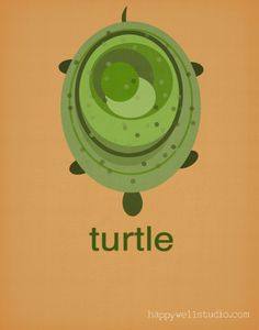 Turtle print for your #TwilightTurtle or #TranquilTurtle inspired nursery
