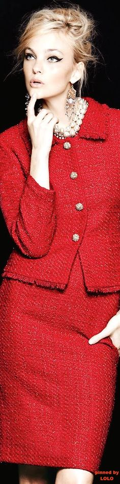 Tahari Metallic Tweed Skirt Suit