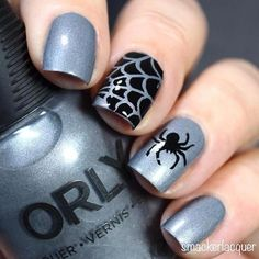 Spider Web Stencils for Nails Halloween Nail Stickers Nail Art Nail Vinyls Nail Art. Halloween Nail Designs, Fall Nail Designs, Halloween Nail Art, Fall Halloween, Halloween Stencils, Women Halloween, Halloween Halloween, Halloween Pumpkins, Halloween Makeup