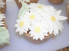 Daisy Flower Pot Mini Cakes