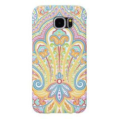 Ornate Hand Drawn Paisley Floral Motif Samsung Galaxy S6 Case - modern style idea design custom idea