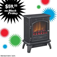 Want a beautiful black metal electric stove? It's never too early to start making your Black Friday shopping list.