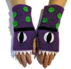 Fleece Fingerless Gloves / Mittens for ADULTS by WarmnCozyHands