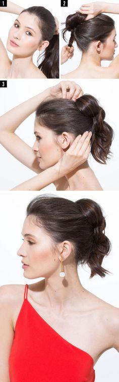 Tutorial capelli: la coda di cavallo con le bolle -cosmopolitan.it