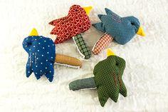 INSTANT DOWNLOAD PATTERN Baby Bird Rattle Soft Toy,Sewing Pattern,Softie Pattern,Hand Sewing Pattern,Baby Rattle Pattern