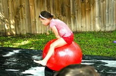 """a """"wipeout"""" birthday party inspired by the abc show wipeout! Love it!"""