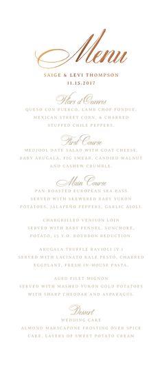 wedding menu, wedding menu cards, custom menu cards, elegant menu cards, formal menu card, black tie wedding, traditional weddings, evening wedding