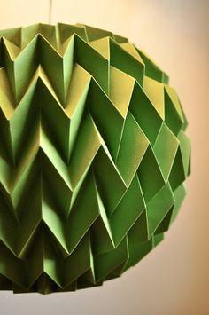 folded paper bubble ball - green