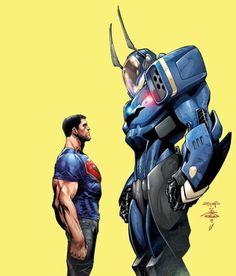 Batman/Superman #21 by Ardian Syaf, inks by Danny Miki *