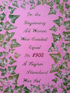"Art Print of Hand Painted ""AKA Women of Higher Standard"" #1908#"