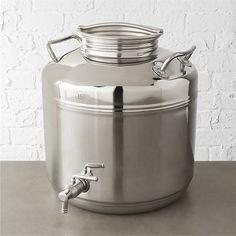 stainless steel fustis beverage dispenser  CB2 $169