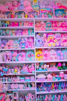 An awe-inspiring collection of pink, purple, and other bright pastel toys from the 80's & 90's