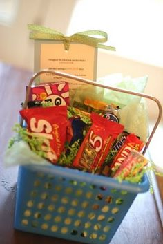 teacher gift---End of School Year Goodie Basket w/poem for candy- Great way to say thanks for collaborating with me this year!
