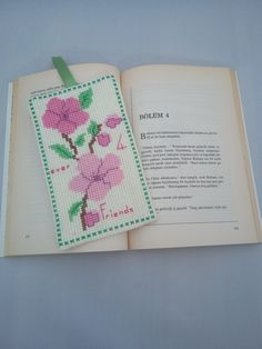 Handmade / Forever Friends / Roses / Flowers / Blossom / Cross Stitch Bookmark / Book Lovers / Bookmark / Bookworm / Gift by AtelierbyMsAries on Etsy