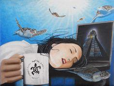 DREAM GIRL óleo en tela 84 x 64 cm./ oil on canvas 33 x 25 in. price 500 us.