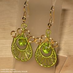 wire weaving jewelry | Wire Weave Earrings – New color photos | Coiled Wire Jewelry by ...