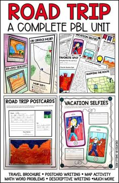 Engage your upper elementary students with a fun, hands-on road trip pbl project Problem Based Learning, Inquiry Based Learning, Teaching Social Studies, Project Based Learning, Early Learning, Map Activities, Classroom Activities, Learning Activities, Planning School