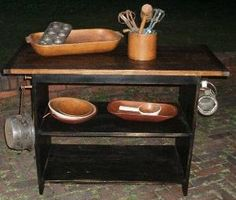 Just Primitive / Handcrafted furniture / Tables~Work Station with drawers