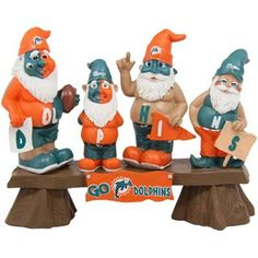 Miami Dolphins Fan Gnome Bench